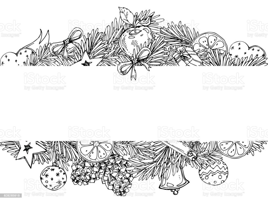 christmas wreath coloring page clip art vector images