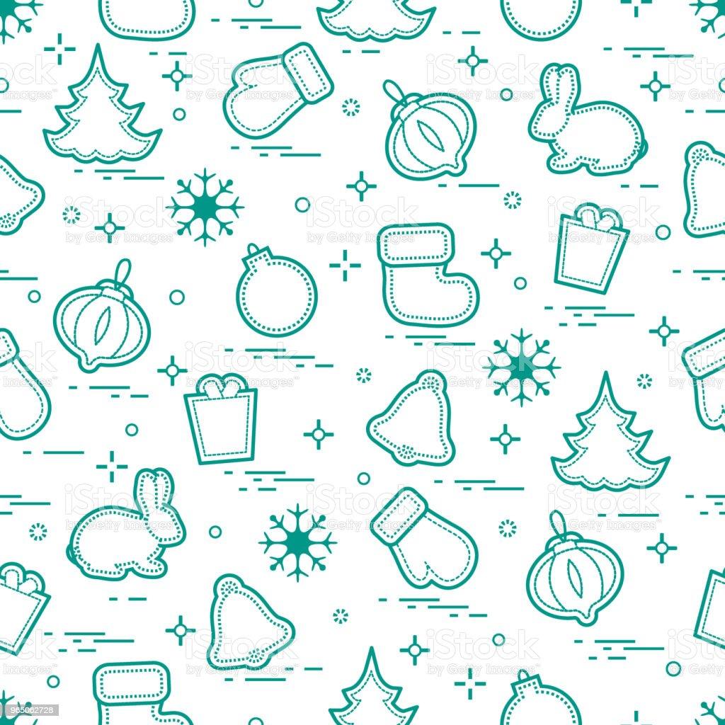 New Year and Christmas seamless pattern. Winter holidays. new year and christmas seamless pattern winter holidays - stockowe grafiki wektorowe i więcej obrazów bombka royalty-free