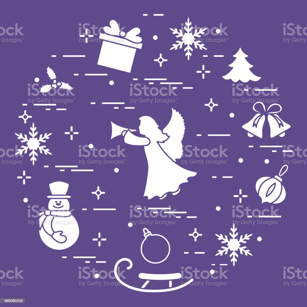 New Year and Christmas symbols. royalty-free new year and christmas symbols stock illustration - download image now