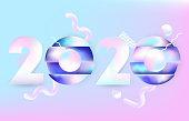 2020 design vectror with 3d elements