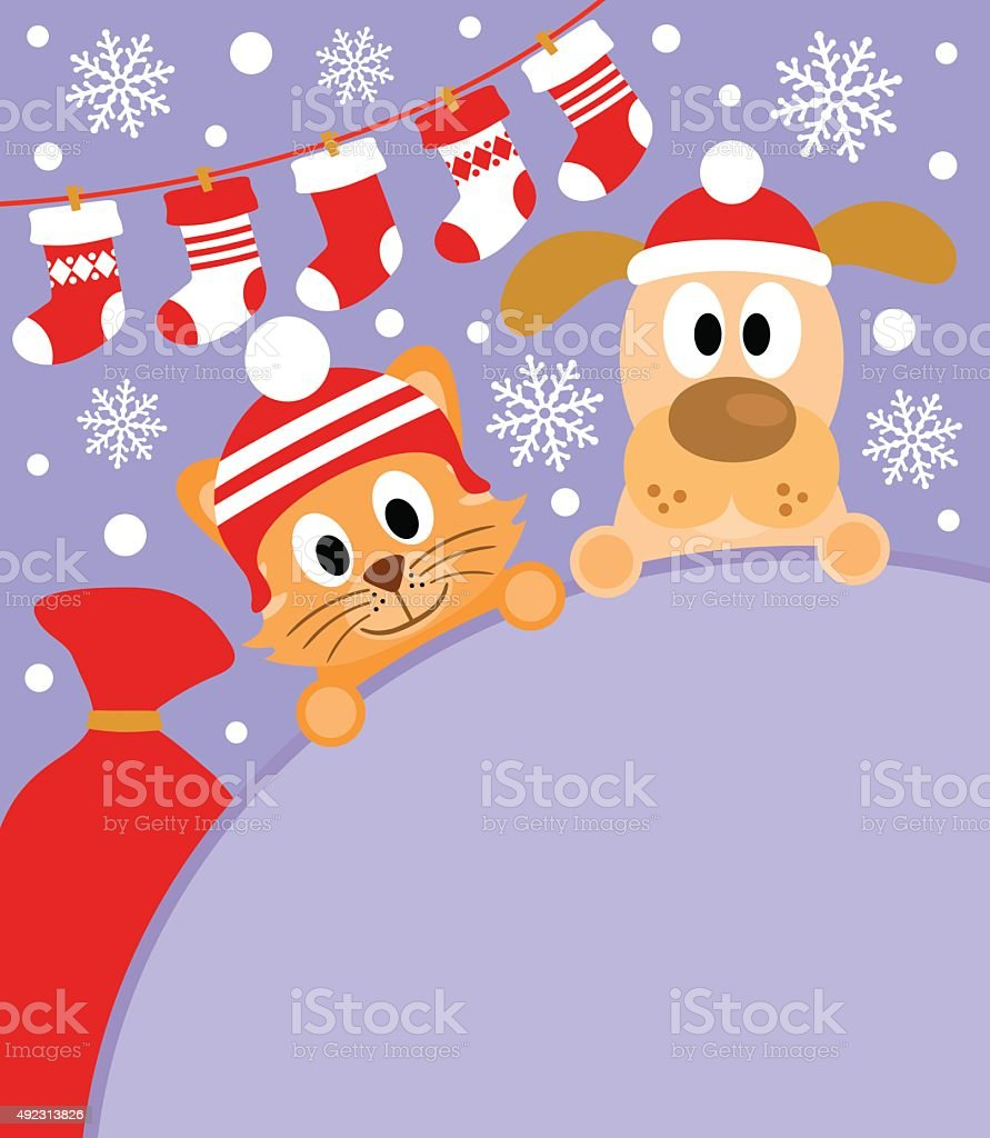 new year background with cat and dog royalty free new year background with cat and