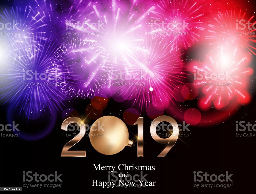 2019 new year background with christmas ball vector illustration royalty free 2019 new year