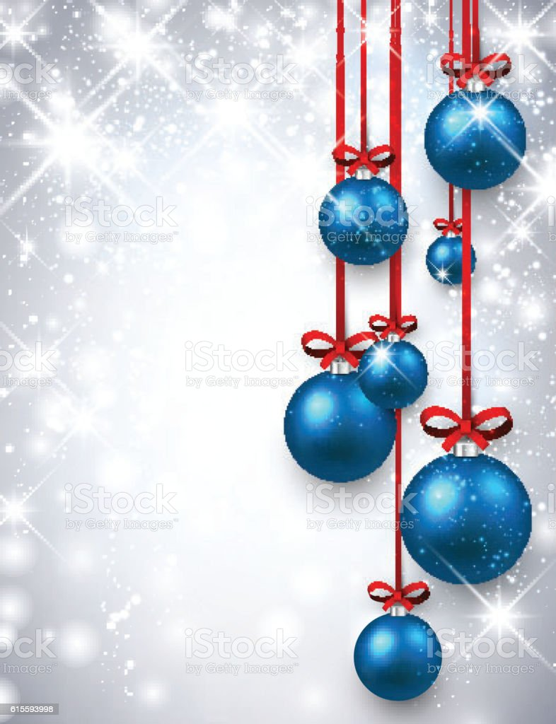 New Year background with Christmas balls. vector art illustration