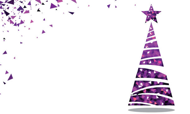 Christmas Trees Background Clipart.Best Purple Christmas Tree Illustrations Royalty Free