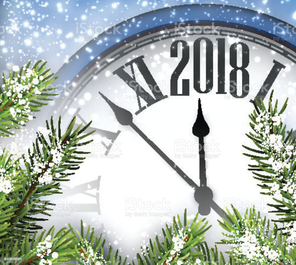 2018 new year background with clock royalty free 2018 new year background with clock