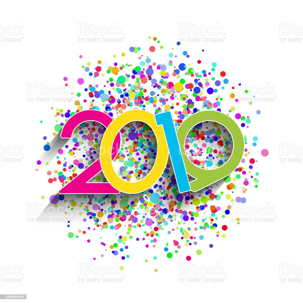 new year background with colourful numbers and confetti royalty free new year background with colourful