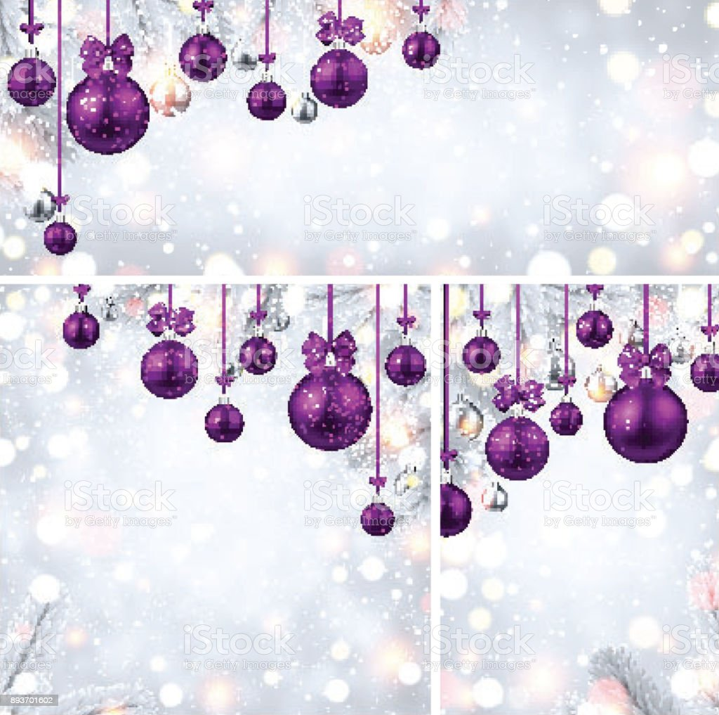 new year backgrounds with purple christmas balls royalty free new year backgrounds with purple