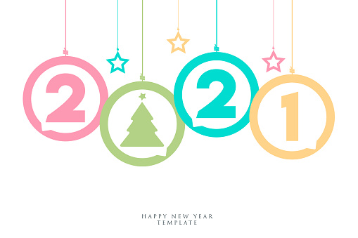 2021 New Year banner concept for advertising, banners, leaflets and flyers. Vector illustration.