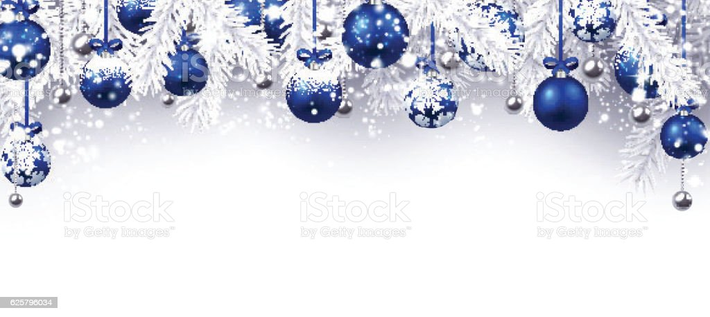 New Year Banner With Christmas Balls Stock Vector Art ...