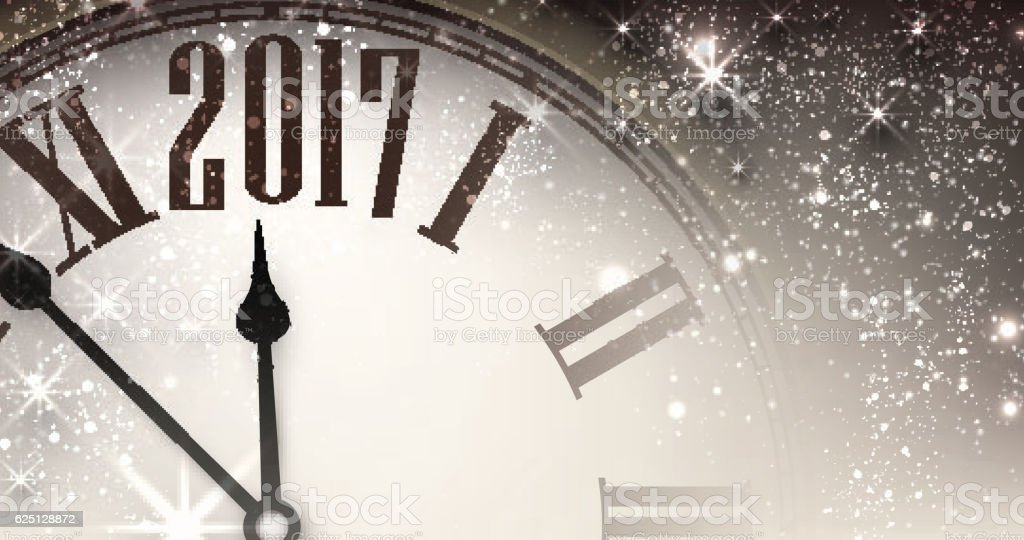 2017 new year banner with clock royalty free 2017 new year banner with clock
