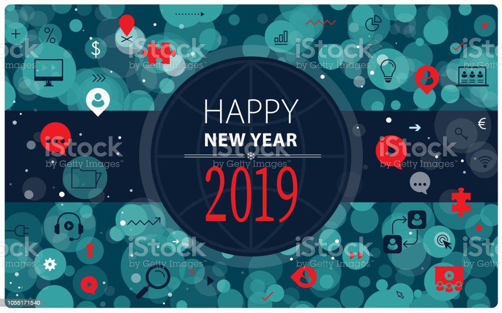 Geschäftliche Neujahrsgrüße – Vektorgrafik