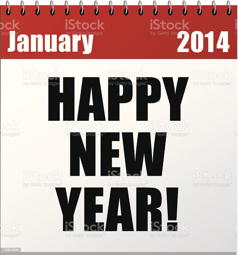 New Year Calendar royalty-free stock vector art