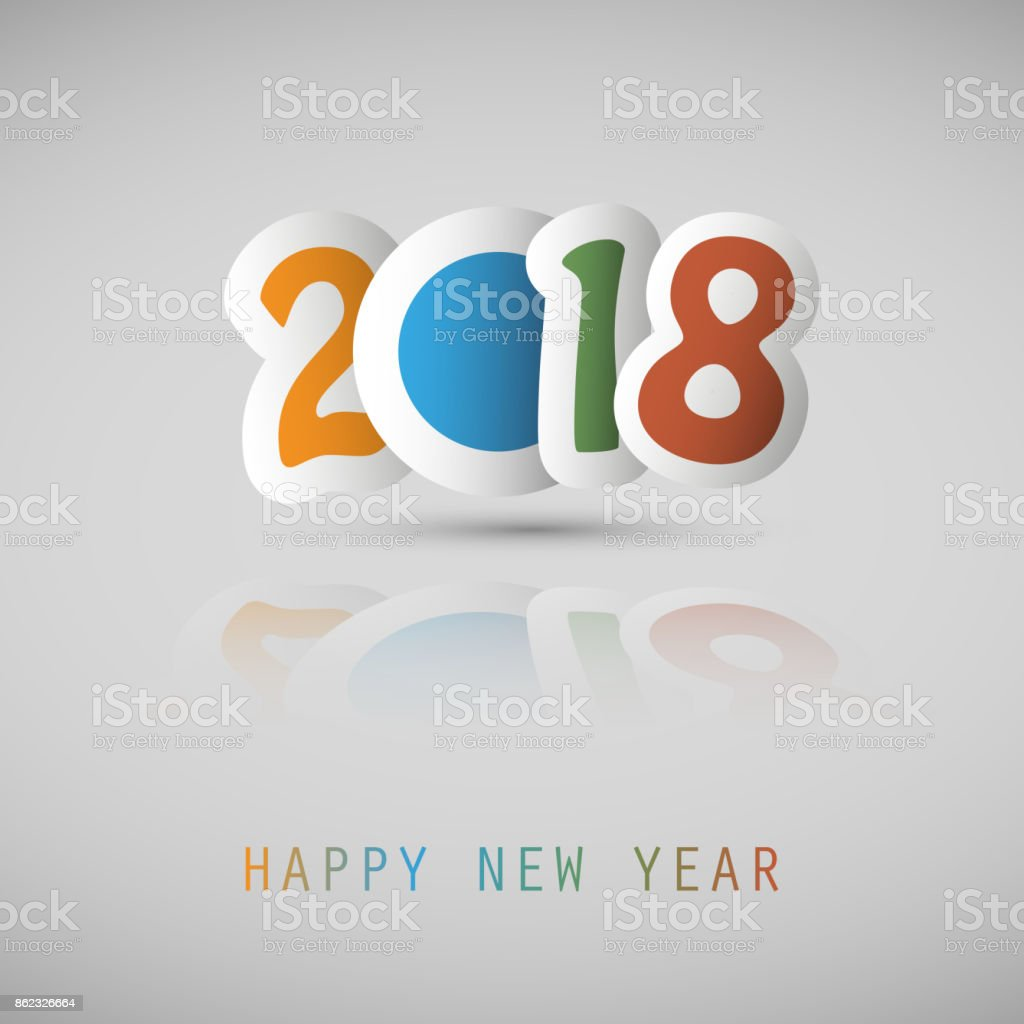 new year card background 2018 royalty free new year card background 2018 stock vector