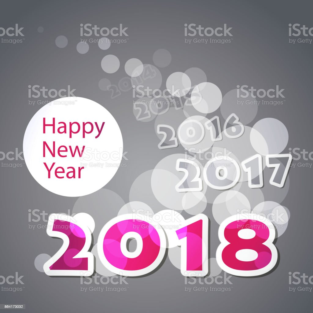 New Year Card Background - 2018 royalty-free new year card background 2018 stock vector art & more images of 2018