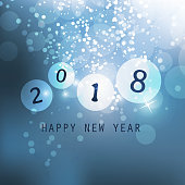 Best Wishes - Abstract Modern Style New Year Card, Cover or Background Design Template with Numerals - Illustration in Freely Scalable and Editable Vector Format