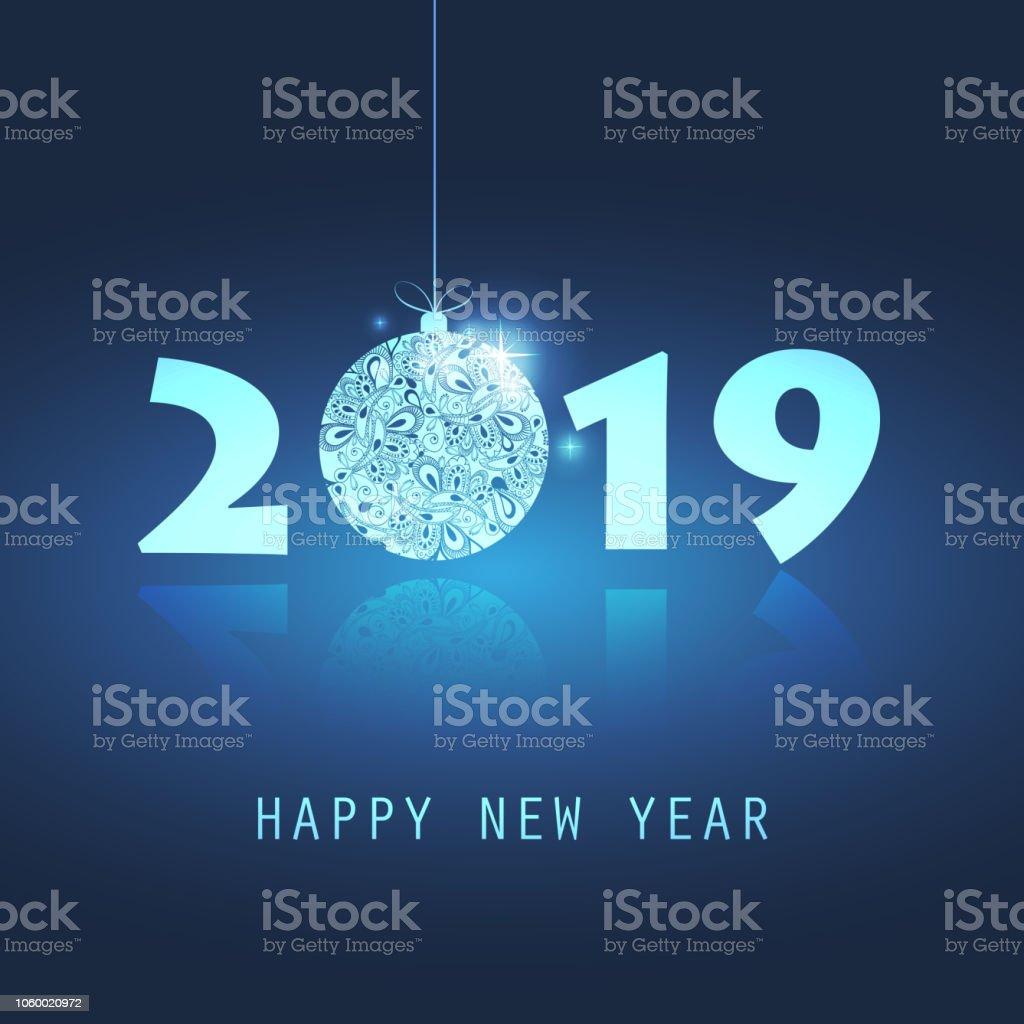 Neujahr-Karte Hintergrund - 2019 – Vektorgrafik