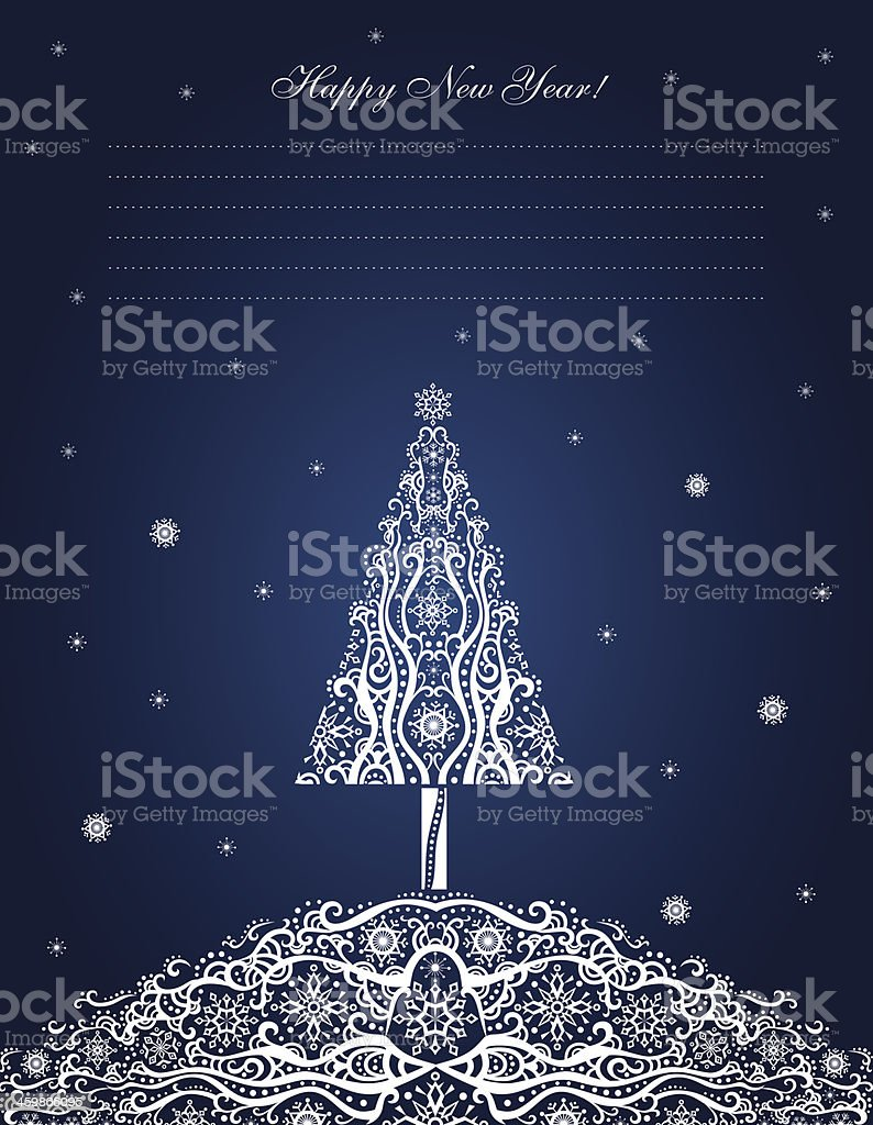 New Year card. royalty-free new year card stock vector art & more images of backgrounds