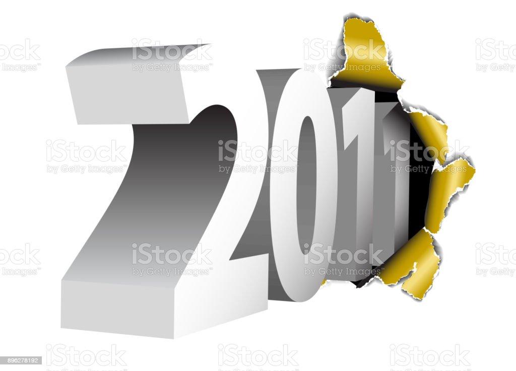 2011 New Year card vector art illustration