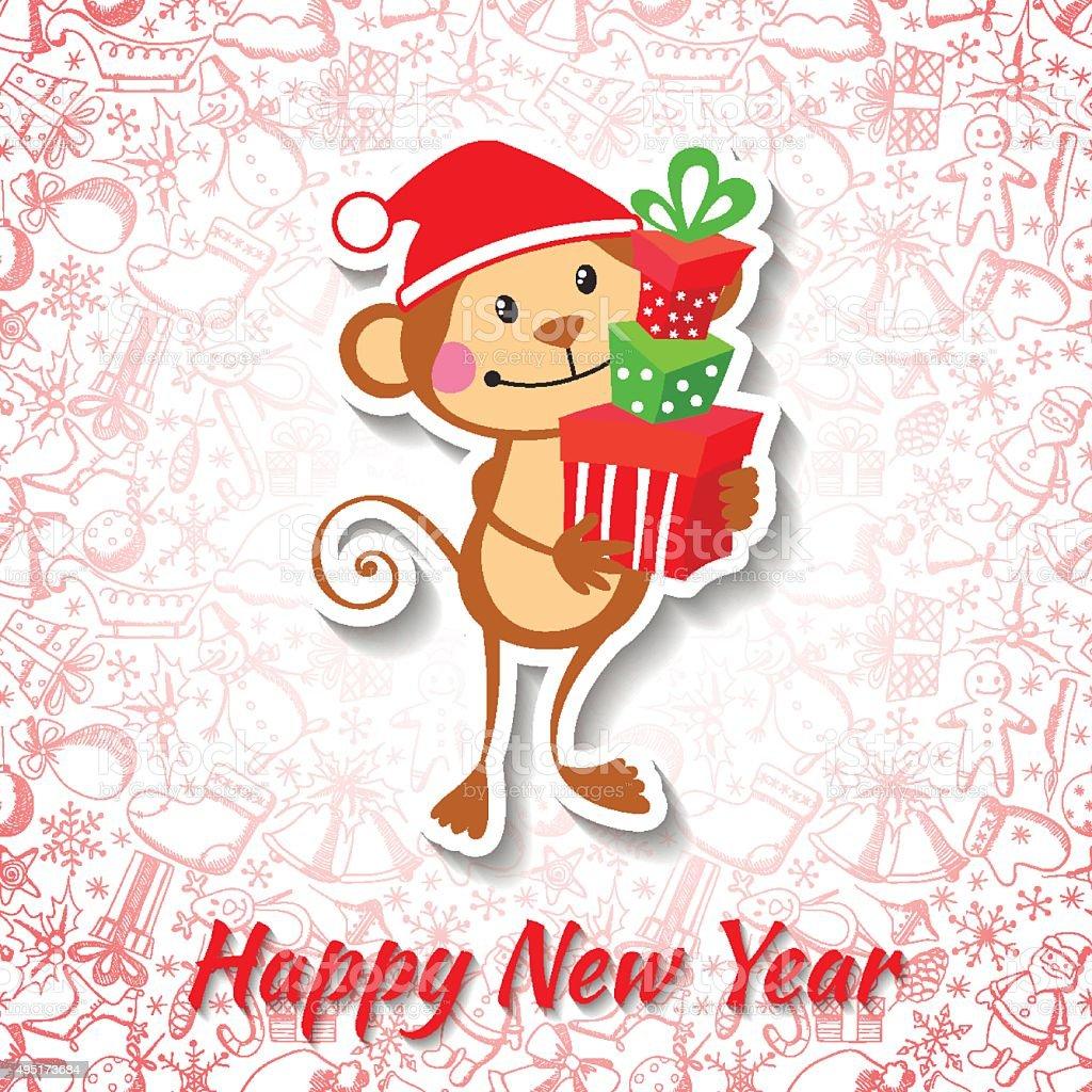 年賀状面白い猿 2015年のベクターアート素材や画像を多数ご用意