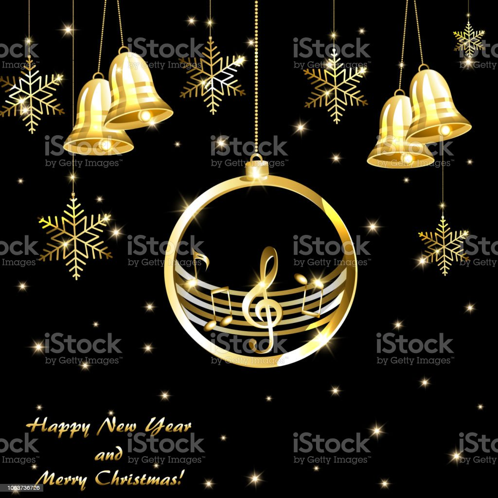 new year card with music background royalty free new year card with music background stock