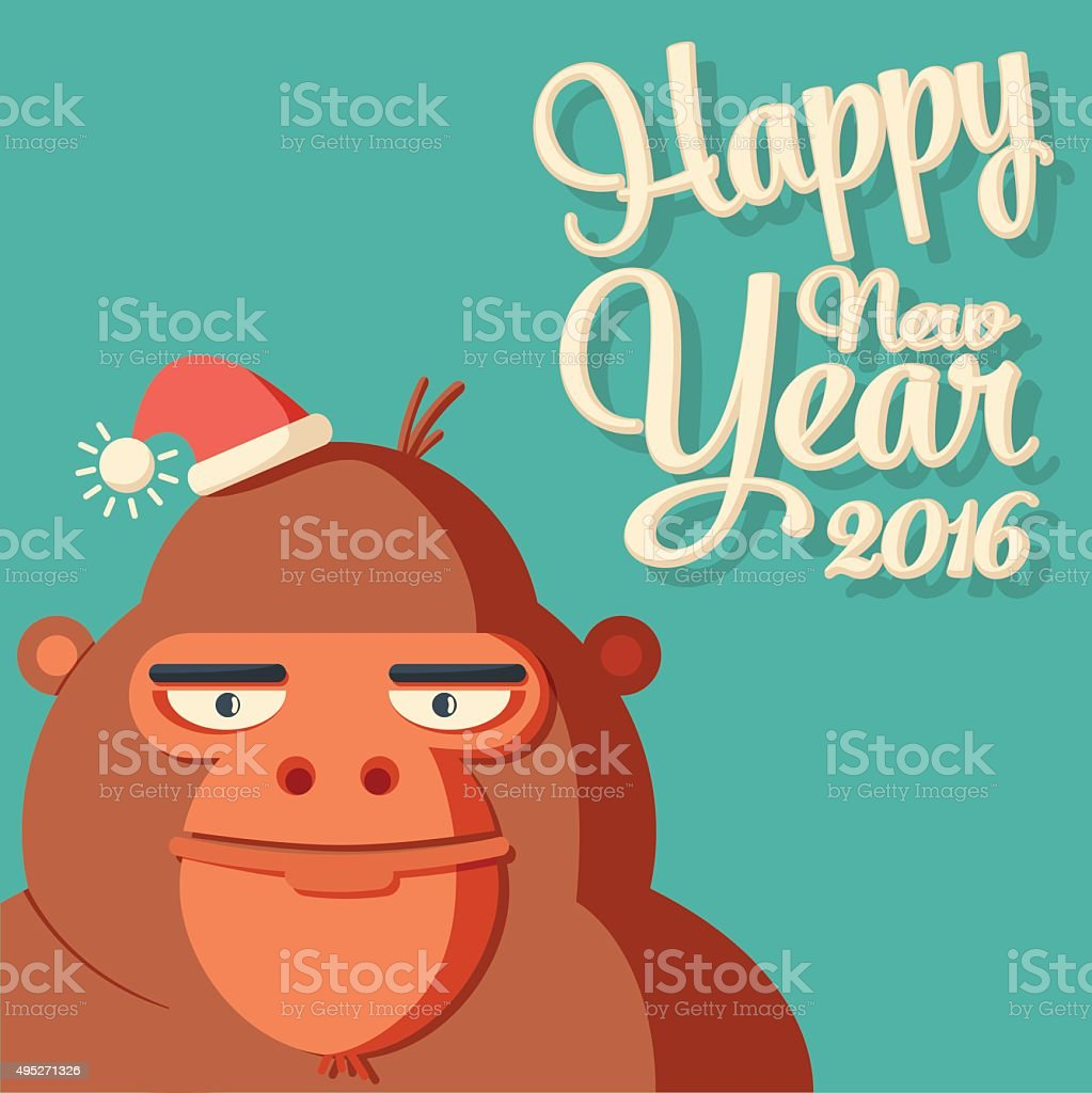 New year card with symbol monkey and caligraphy 2016 stock vector new year card with symbol monkey and caligraphy 2016 royalty free new year buycottarizona Image collections