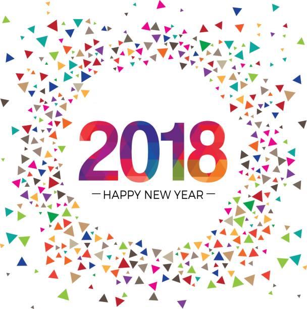 2018 新年祝賀挨拶ベクトル イラスト デザイン テンプレート - 大晦日点のイラスト素材/クリップアート素材/マンガ素材/アイコン素材