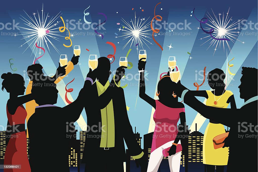New Year celebration party royalty-free stock vector art