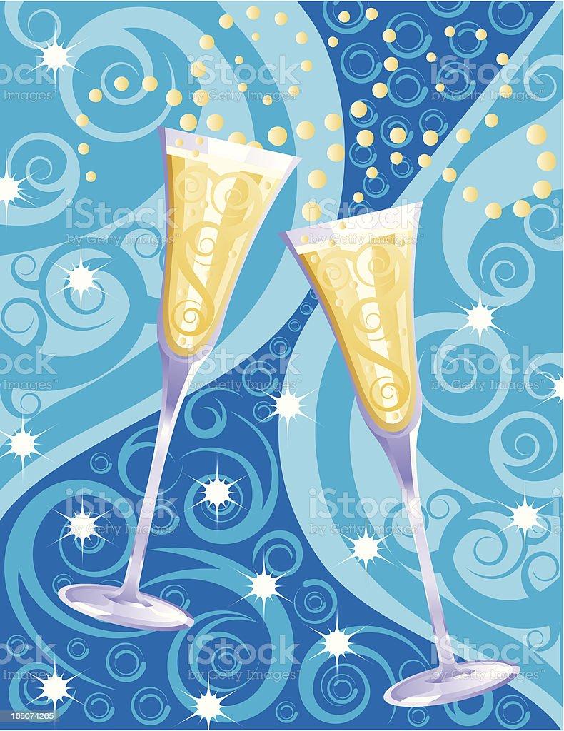New Year Celebration Toast royalty-free stock vector art