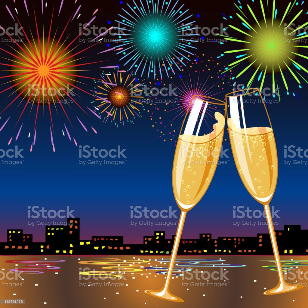 New Year Celebration royalty-free stock vector art