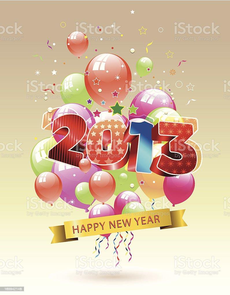 New year Celebration vector art illustration