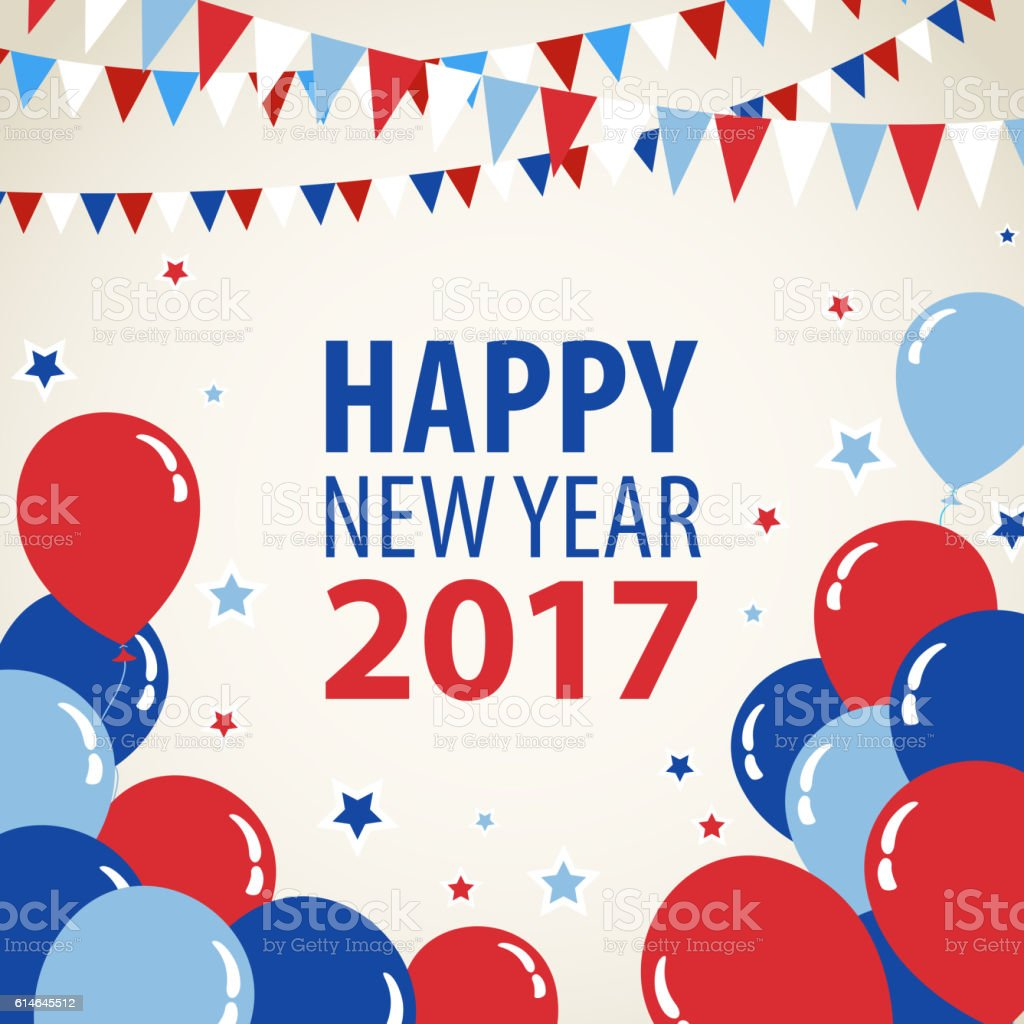 New Year Celebrations 2017 vector art illustration