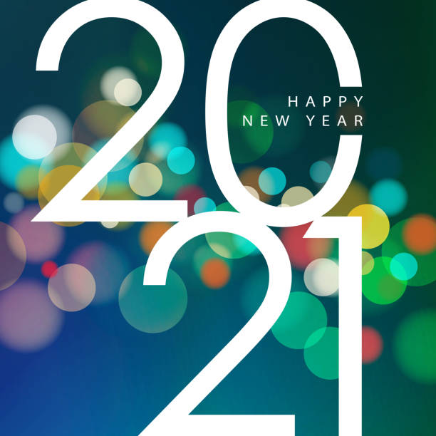 2021 New Year Celebrations Join the celebration party for the New Year 2021 on the colorful sparkling light background 2021 stock illustrations