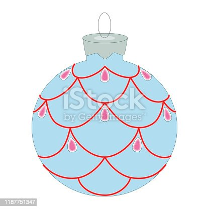 New Year, Christmas, holiday decoration, color icon. Can be used for web, logo, mobile app, white background, vector