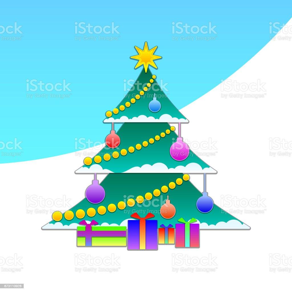 New year christmas vector vector art illustration