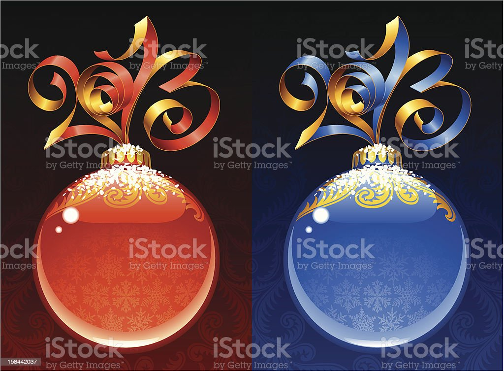New Year circle frames. Red and blue royalty-free new year circle frames red and blue stock vector art & more images of blue