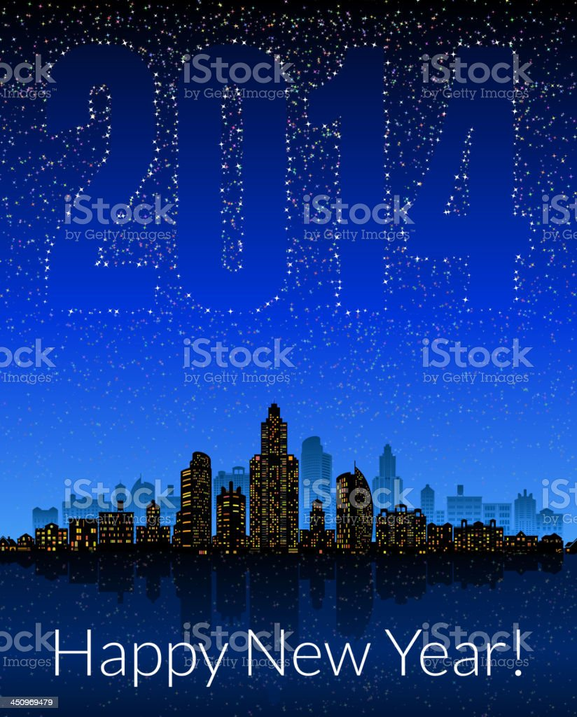 New Year City Celebration skyline panoramic royalty-free new year city celebration skyline panoramic stock vector art & more images of back lit
