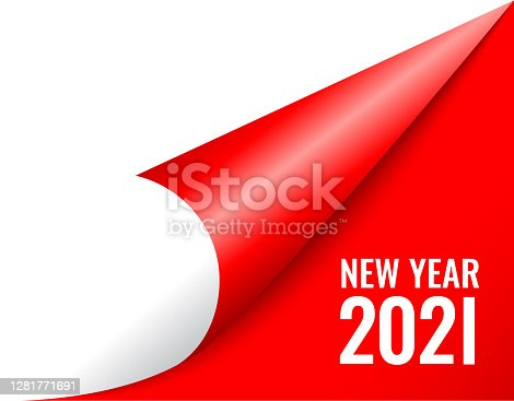 istock 2021 new year coming soon, curled calendar page 1281771691