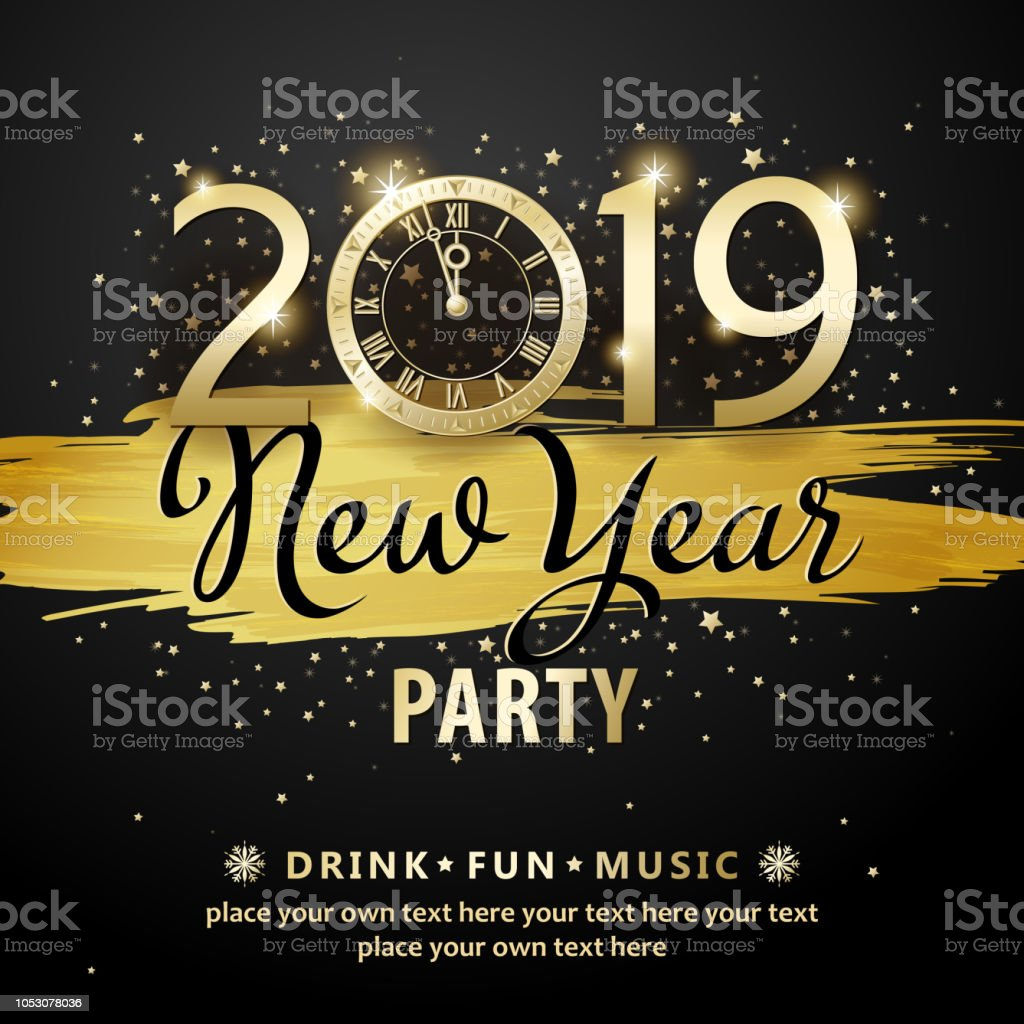 New Year Countdown Party 2019 Stock Illustration - Download Image