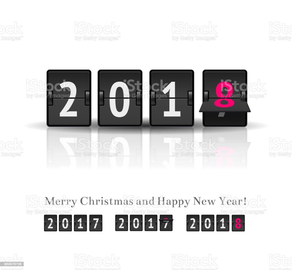 New Year countdown vector banner vector art illustration