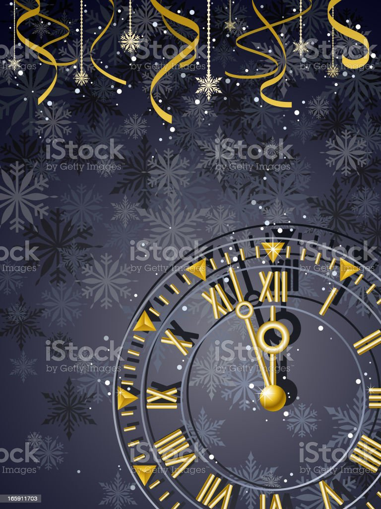 New Year Countdown vector art illustration