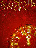 New Year countdown background.