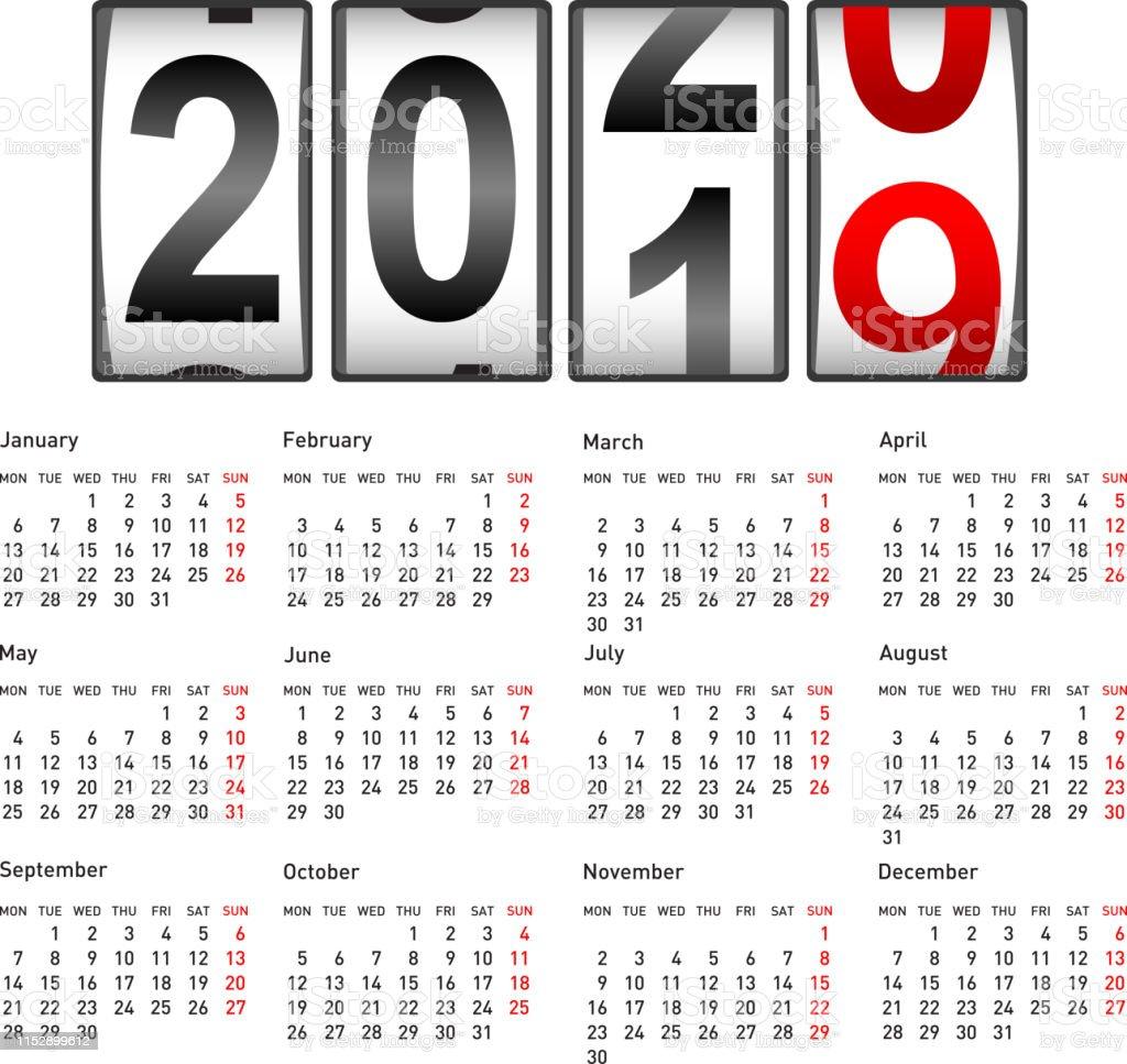 Modern 2019 2020 Mid Year Diary: 2020 Compteur Du Nouvel An Modifier Lillustration Du