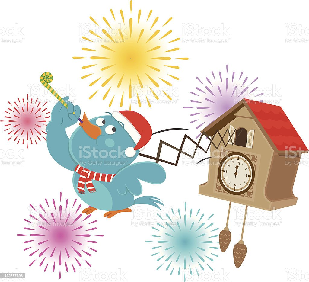 new year cuckoo clock royalty free new year cuckoo clock stock vector art