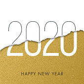 2020 - New Year Day greeting card. stock illustration