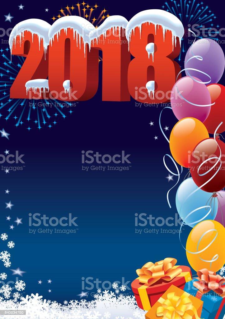 New Year decoration vector art illustration