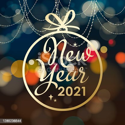 istock 2021 New Year Decorations Bauble 1285236544