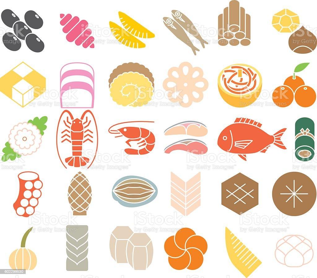 「おせち料理 イラスト」の画像検索結果
