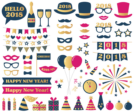 New Year Eve party photo booth props