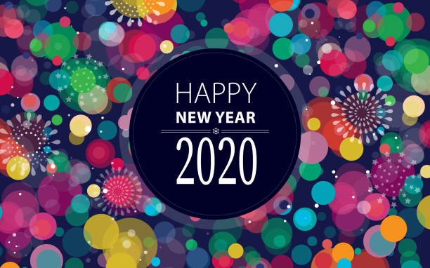 SilvesterFeuerwerk 2020 Horizontal – Vektorgrafik