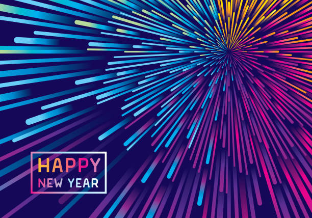 new year fireworks background - fireworks stock illustrations
